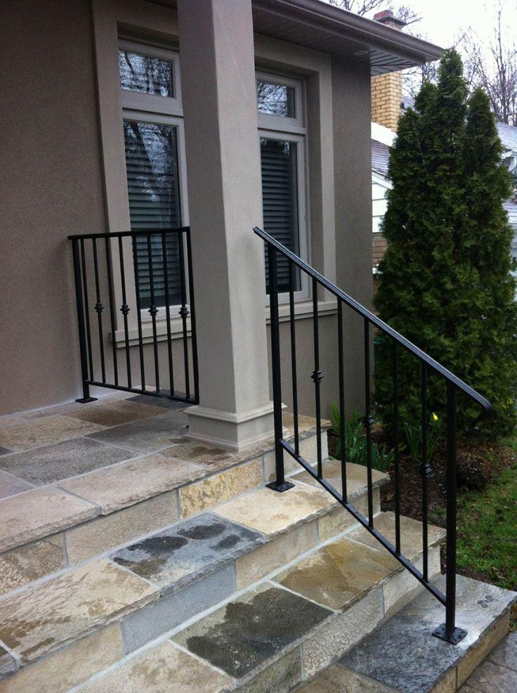 Wrought Iron Stair Railings Exterior Exterior Railing | Rot Iron Stair Railing