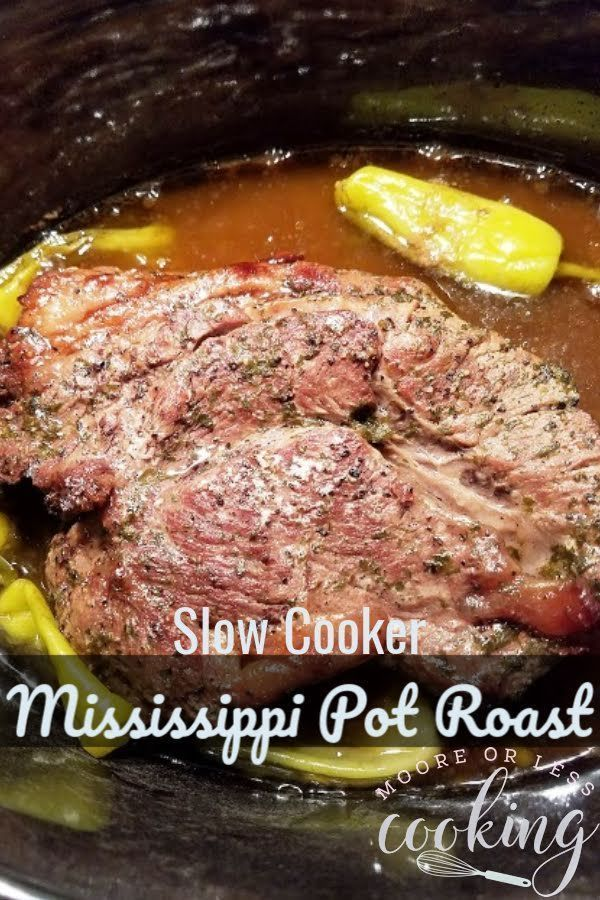 Slow Cooker Mississippi Pot Roast Video Moore Or Less Cooking Recipe Mississippi Pot Roast Slow Cooker Mississippi Pot Roast Slow Cooker Mississippi