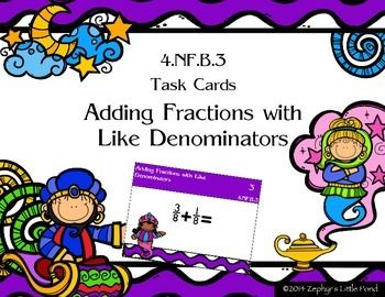 18 best teachers pay teahers images on pinterest school teacher adding fractions with like denominators task cards fandeluxe Gallery