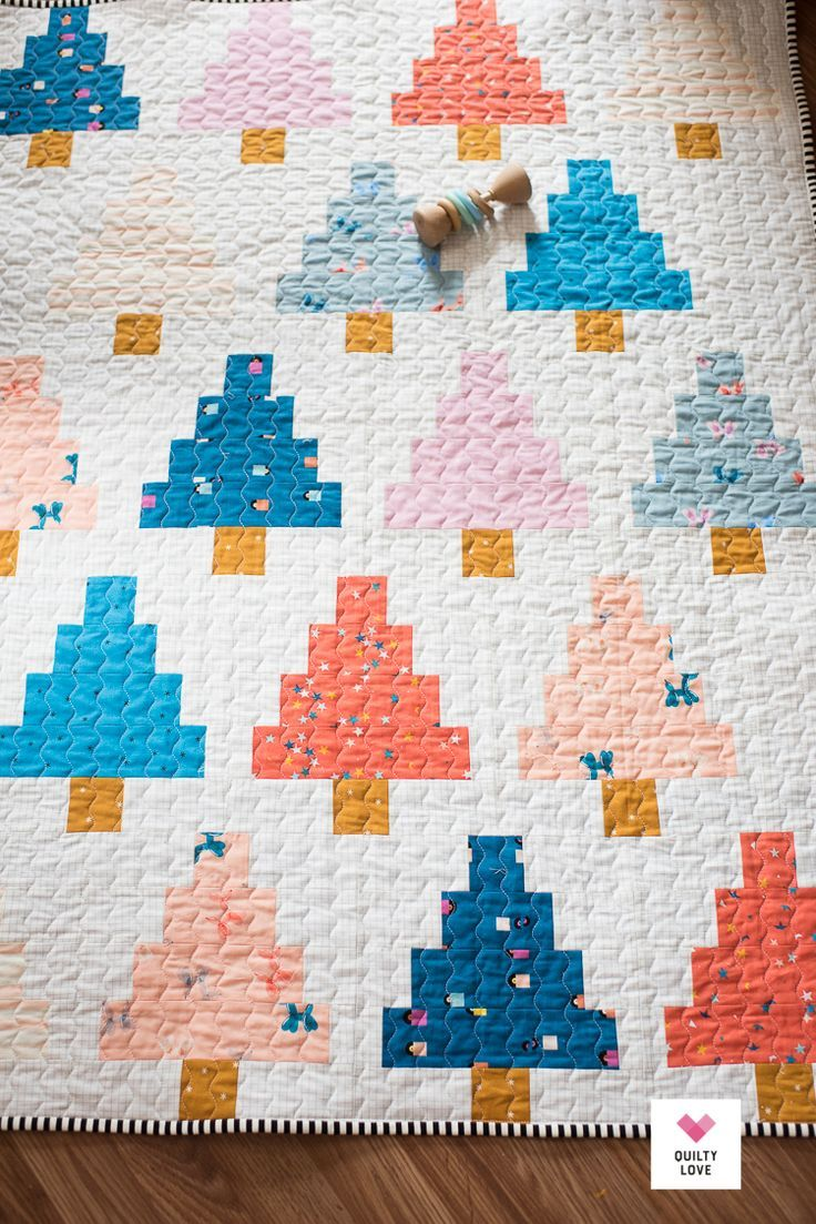 Quilty Trees Baby Quilt The Playful Baby One Quilty Love Trees Baby Quilt Tree Quilt Pattern Baby Quilt Tutorials