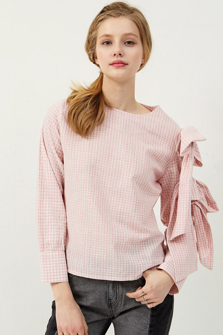 Avril Bow Embellished Blouse Discover the latest fashion trends online at storets.com
