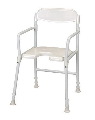 Homecraft Folding Shower Chair with Cut Out 396 Advantage card points. Folding Shower Chair with Cut Out. This shower chair has armrests on the side of the seat to provide additional support when raising from or lowering onto the stool. FREE De http://www.MightGet.com/april-2017-1/homecraft-folding-shower-chair-with-cut-out.asp