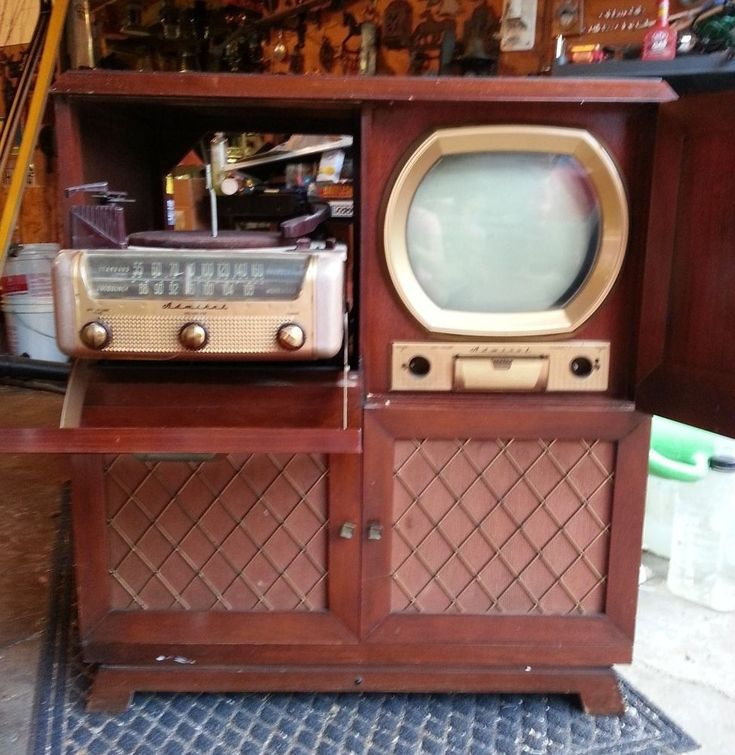 Vintage Admiral Tv 1950 S Phonograph Radio Wood Cabinet