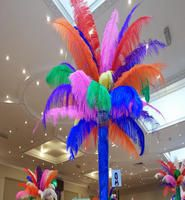 Rio Carnival themed table centres and venue dressing for hire in London and the UK