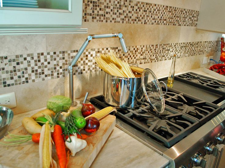 tile backsplash that is easy to clean and adds pop to my