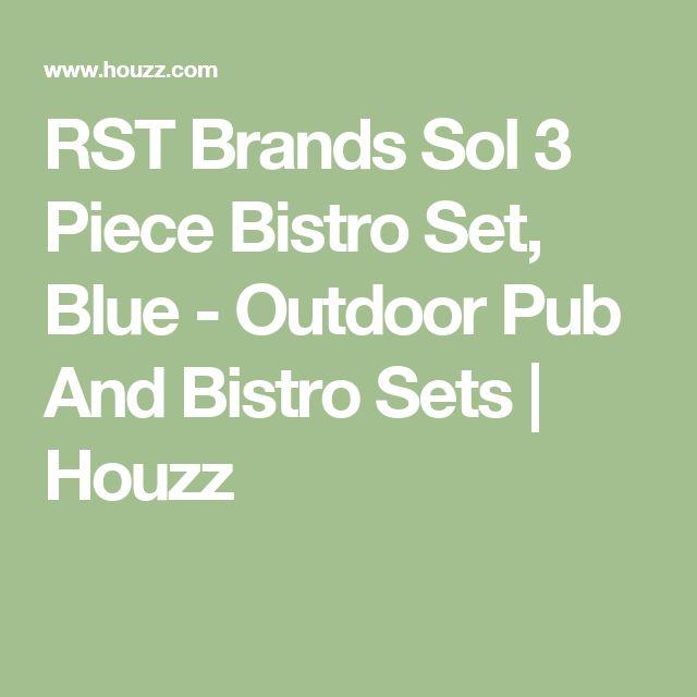 RST Brands Sol 3 Piece Bistro Set, Blue - Outdoor Pub And Bistro Sets | Houzz