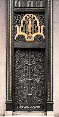 Entrance, Cheney Brothers Bldg., NYC  Art Deco.