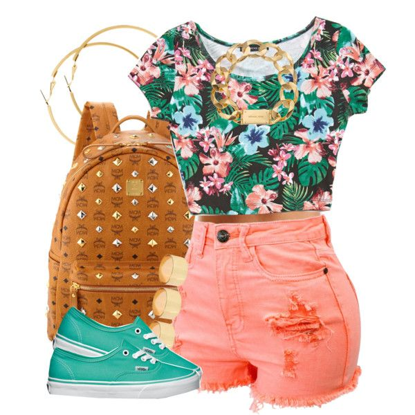 """Floral Peach."" by livelifefreelyy on Polyvore"