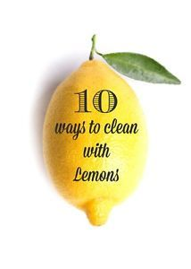 Lemons! I cannot live without lemons. I put them in my water daily, I use them in my tea and I love using them to clean! I've got 10 tips and tricks for cleaning with lemons that will have you singing...