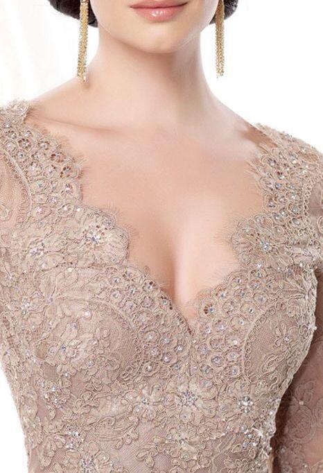 Nude lace top - #kebaya inspire.  Beautiful cutting