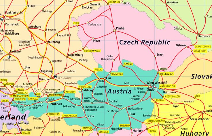 Part of Central Europe Rail MAPS Pinterest Central europe