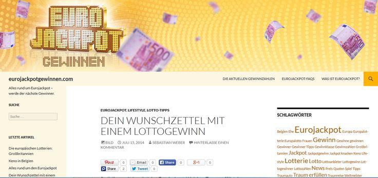 Stellen Sie sich vor, die den Euro-Jackpot knackt. Was träumen Sie, Sie zum ersten Mal begegnet? Wie man ein paar lustige Ideen für Sie, was Sie mit Ihrem Lottogewinn zunächst tun können.