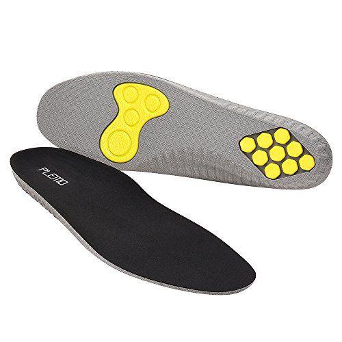 [Semelles] PLEMO 1 Paire Semelles de Sport Absorbantes Chocs avec Coussins de Gel l'Avant-Pied et au Talon, Découpables aux ciseaux pour…
