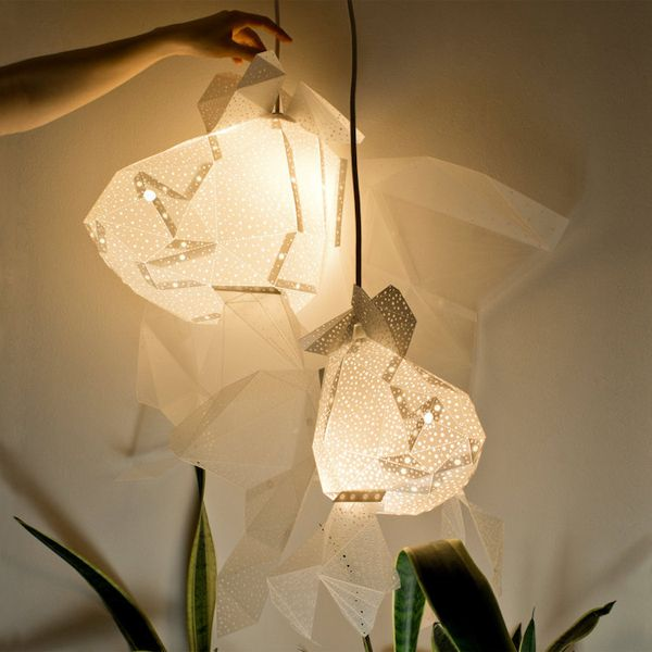 DIY Paper Aquatic Lights With Sea Inspired