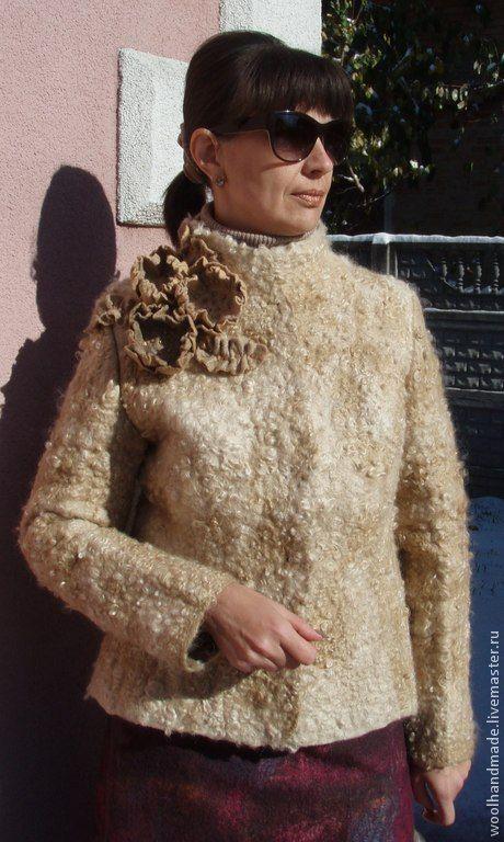 Куртка из шерсти Благородный беж - Оксана Соколова (woolhandmade) - Ярмарка Мастеров