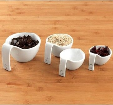 Curtis Stone Made to Measure Porcelain Cups, Set of 4 contemporary kitchen tools $29.99