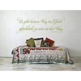 Nice  gl cklich zu sein ist der Weg Dekorativer Wandsticker mit einem bekannten Buddha Zitat jetzt in vielen sch nen Farben und Gr en online bestellen