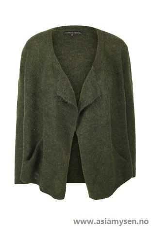ganske Cool Florence Design grønn Overdeler Strikkejakke NY06QB6690 - Kvinner Klær