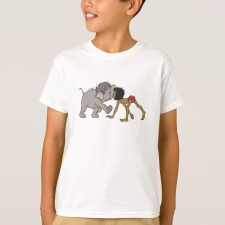 Jungle Book's Mowgli With Baby Elephant Disney T-Shirt - tap to personalize and get yours