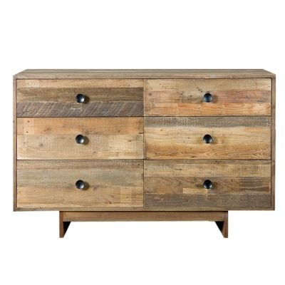 Gorgeous rustic look and feel handmade chest of drawers - perfect for a fall makeover!