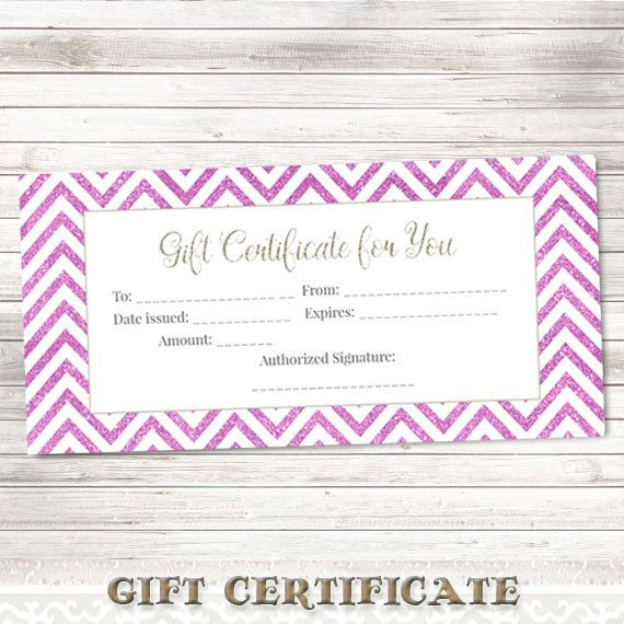 Printable Gift CertificatePurple Glitter by DigitalDesignPaper