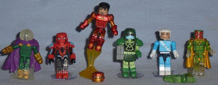 ArtAsylum Marvel MiniMates - TRU 19, Toys 'R Us Wave 19 Mysterio, Anti-Sinister Six Spider Man, Space Armor Iron Man, Ronan the Accuser, Quicksilver & Marvel Now Vision (skipped Classic Sentinel & Payback Wolverine)