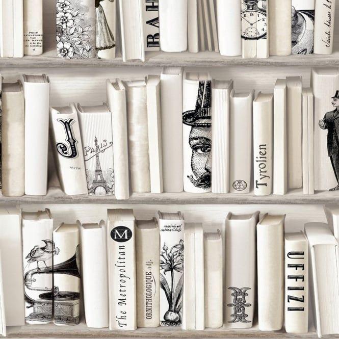 Muriva Encylopedia Wallpaper Bone (572217) - Muriva from I love wallpaper UK