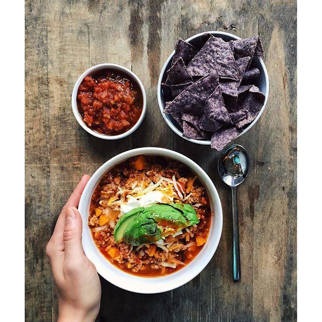 Sweet Potato, Black Bean, Turkey And Quinoa Chili