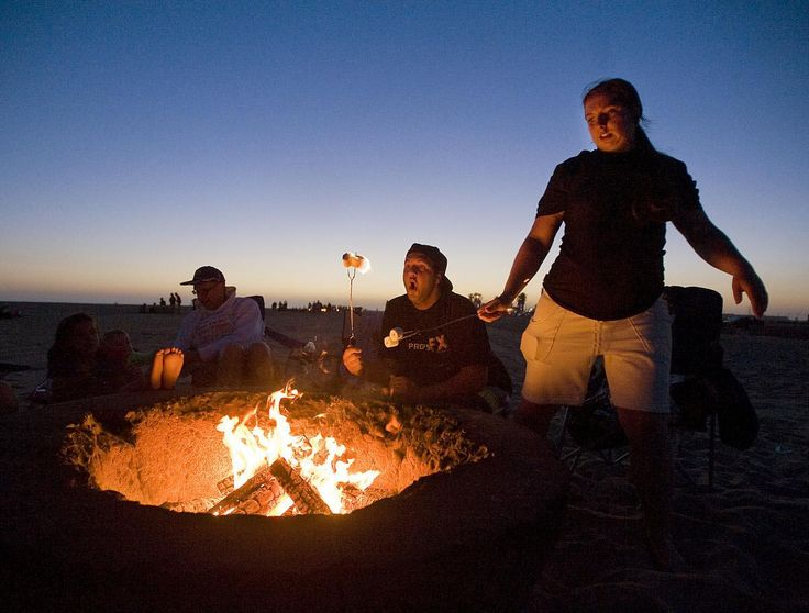 Corona Del Mar Beach Fire Pits