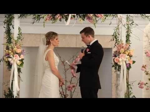 Truly heartfelt and touching wedding vows throughout this entire wedding video . . .