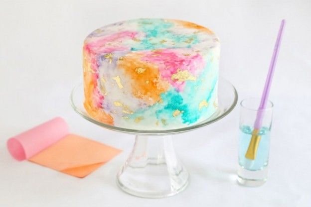 Torta acquerello, una dolcissima novità
