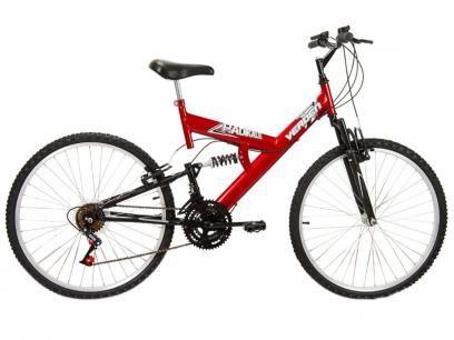 Bicicleta Verden Radikale Aro 26 18 Marchas - Dupla Suspensão Quadro de Aço Freio V-Brake com as melhores condições você encontra no Magazine Raimundogarcia. Confira!