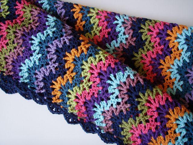 Vintage Crocheted Blanket by frecklesandpurls, via Flickr