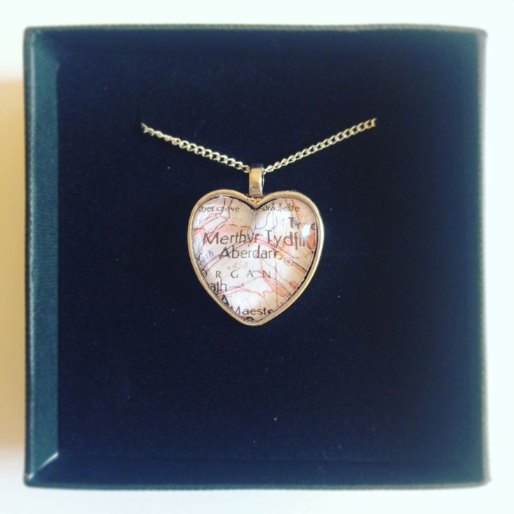The 9 best images about Vintage Heart Map Necklace on Pinterest
