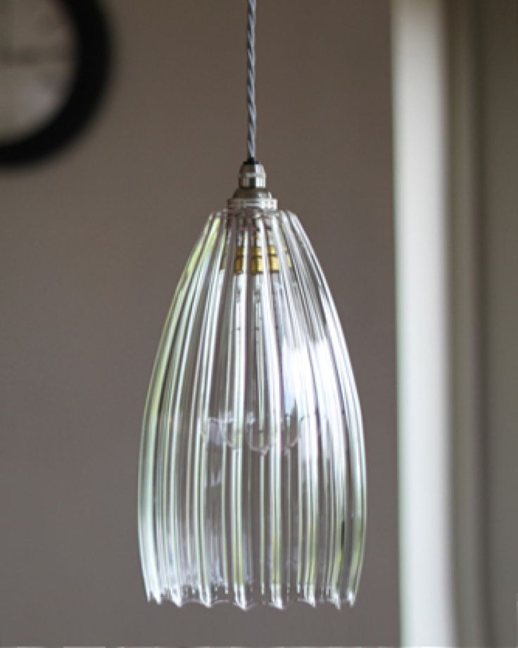 Upton Ribbed Glass Pendant