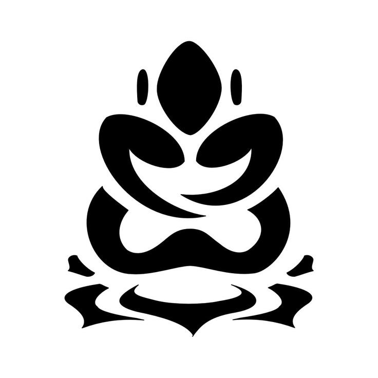 Buddha Lotus tattoo. Or gpas  wooden one...