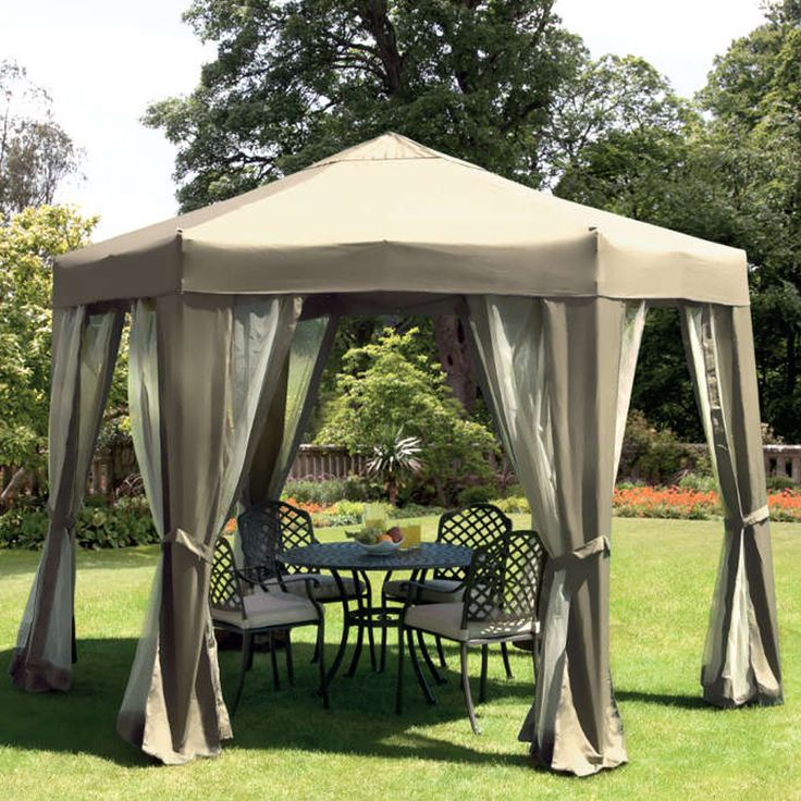 Tenterden Hexagonal Folding Gazebo The Tenterden Hexagonal Folding Gazebo  is elegantly designed and constructed from robust steel and is des. - 275 Best Images About Metal Gazebo Kits On Pinterest Metal