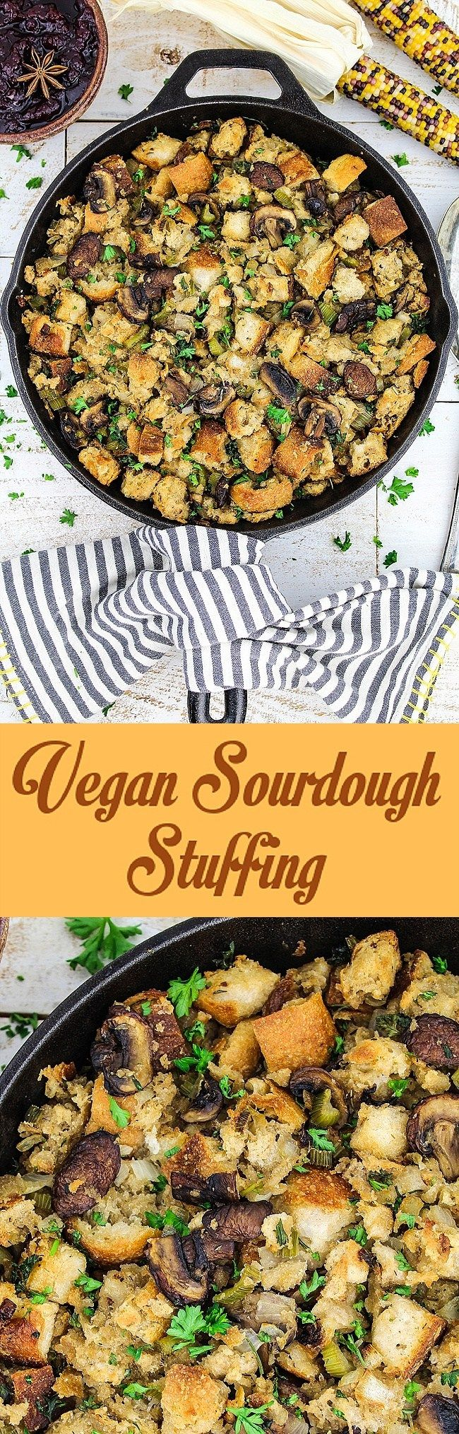Vegan Sourdough Bread Stuffing