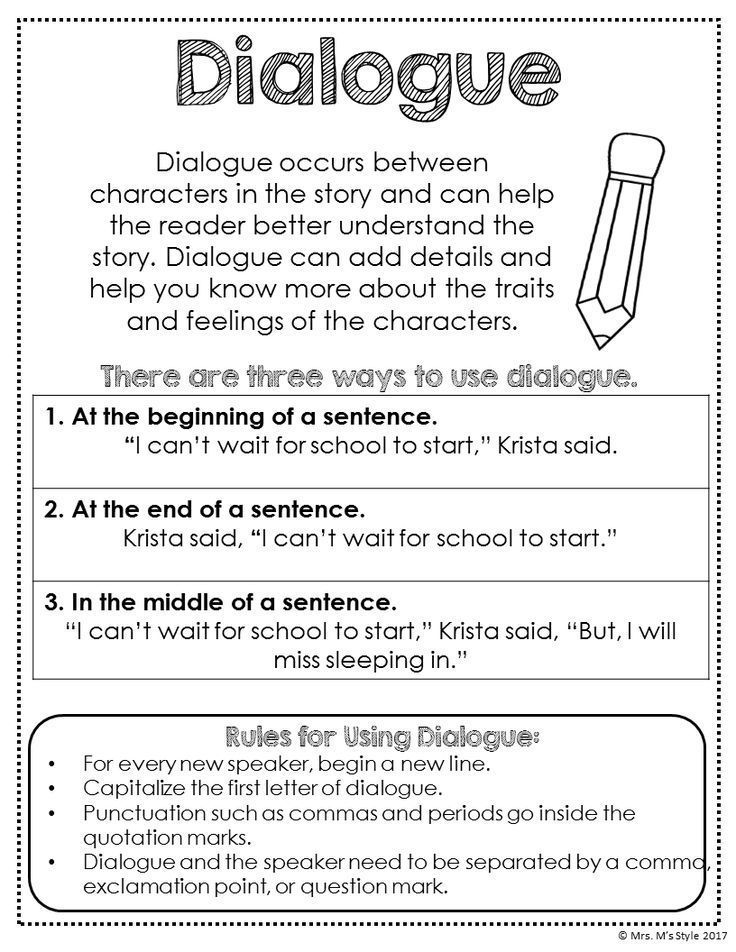 Help your students learn how to use dialogue effectively