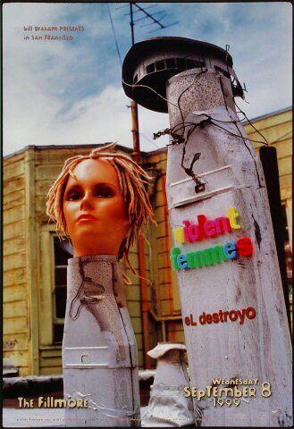 Violent Femmes concert poster from the Fillmore, SF