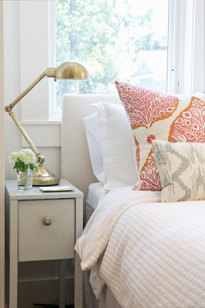 The Prettiest Summer House Style Bedroom By Braun Adams With A Clever Ikea Hack Nightstand Is An Piece Updated