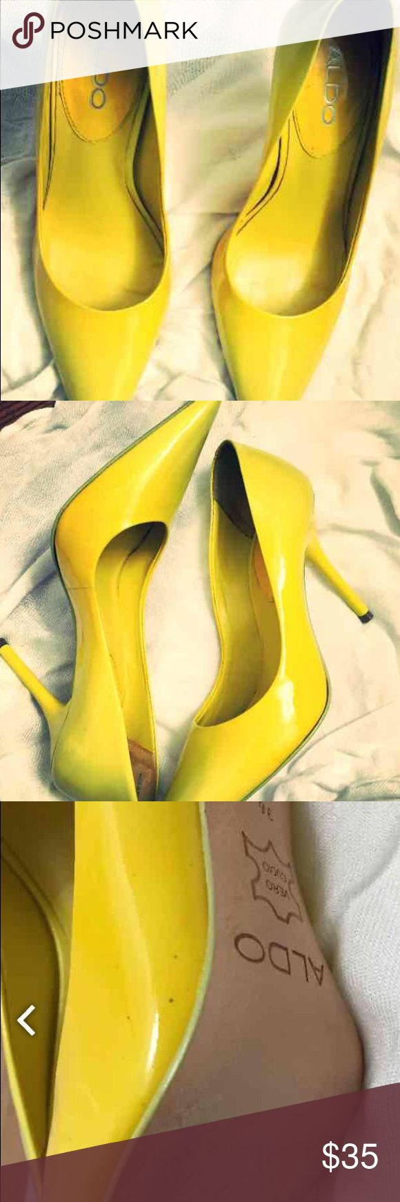 Ombré yellow pumps There too small for me!😔 ALDO Shoes Heels