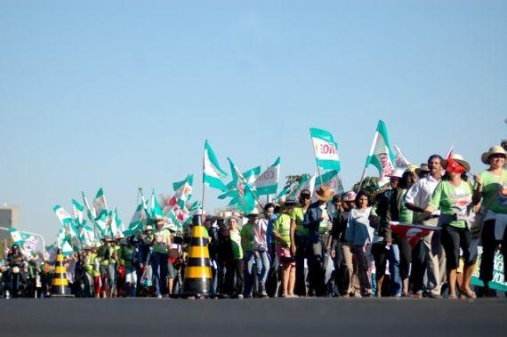 Começa hoje e vai até quarta-feira a Marcha das Margaridas em Brasília, a maior manifestação feminista realizada na América Latina, que contará com cerca de 100 mil mulheres para o ato de agricultoras familiares. A Marcha se consolidou na luta contra