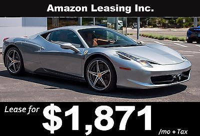 2013 Ferrari 458 Lease Special! Business Lease, Closed end, simple interest,5 credit tiers no prepayment penalty