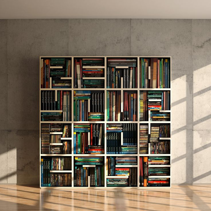 READ YOUR BOOKCASE. Love this design by Eva Alessandrini and Roberto Saporiti, which spells out those words with shelving.