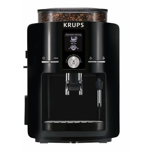 Krups Espresseria Full Automatic Espresso Machine ($800) ❤ liked on Polyvore featuring home, kitchen & dining, small appliances, piano black, krups espresso maker, espresso maker, krups cappuccino machine, krups coffee grinder and espresso cappuccino maker #automaticespressomaker
