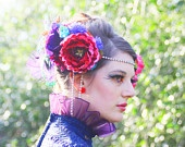 Love this Etsy Hope! Dhalia Strawberry - Bohemia Couture Hair Adornment
