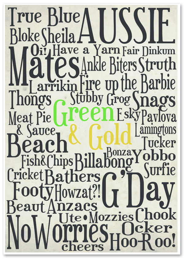 Australia Day, 'Aussie Poster'  FREE downloadable printable| Sassaby Blog