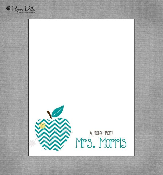 Chevron Apple  Teal Yellow and Brown  by PaperDollPrinting on Etsy, $12.00