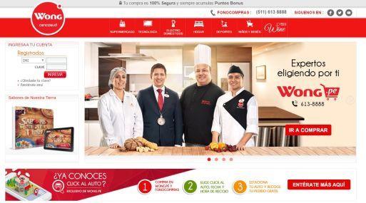 La cadena de supermercados Wong de Cencosud busca que sus ventas a través del canal online dupliquen su participación dentro de su facturación total.